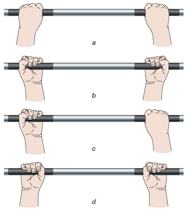 Les différentes prises et saisies en musculation